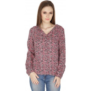 22nd Street Casual Full Sleeve Printed Women's Multicolor Top