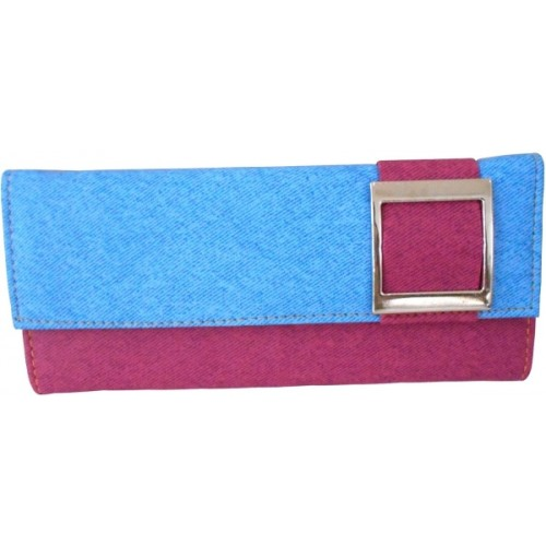 Saugat Traders Girls, Women Casual Trendy Red, Gray Denim Wallet