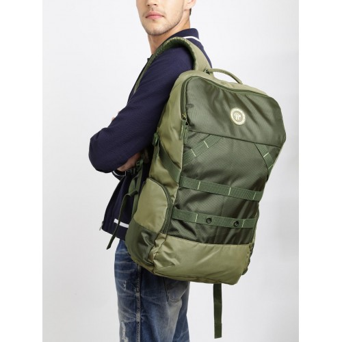 8f9cb45d68 Buy Roadster Unisex Olive Green Synthetic Tall Knapsack Backpack ...