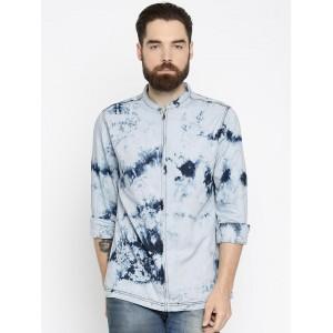 Roadster Blue Faded Denim Shirt