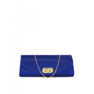 Mast & Harbour Blue Synthetic Shimmery Clutch
