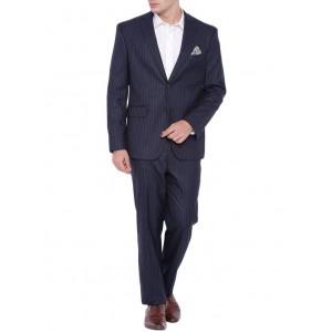 suitltd navy blue polyester formal blazer