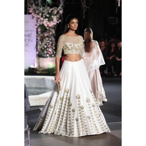 Viva Enterprise White Silk Embroidered Lehenga
