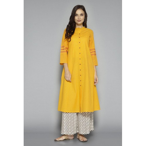 28772606e Buy Utsa by Westside Yellow Solid Kurta online