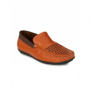 WONKER Men Tan Woven Regular Loafers