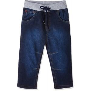 Gini & Jony Navy Blue Denim Washed Solid Jeans