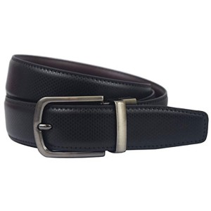 Natali Black & Brown Leather Formal Reversible Belt
