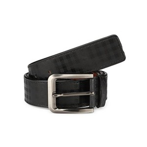 TSX Black Faux Leather Belt