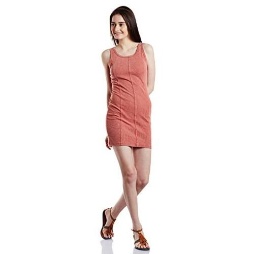 Forever Twenty One Peach Cotton A Line Dress