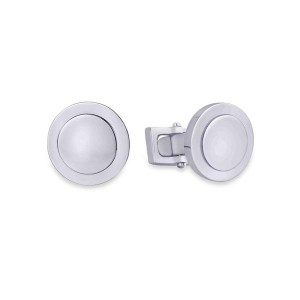 Peora Silver  Coloured Cufflinks