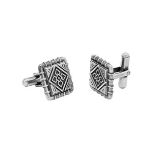 Voylla Fashion Silver Metal Cufflink For Men