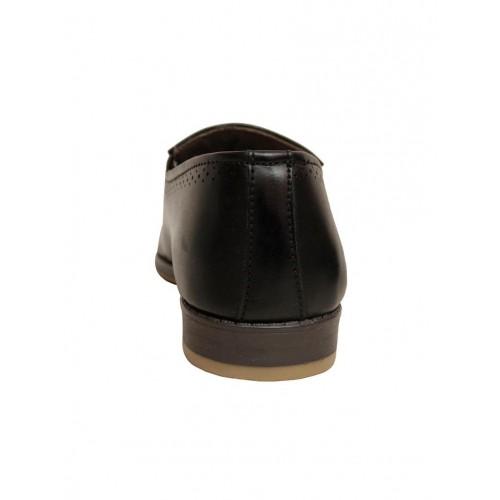 Shoe Island black Leatherette slip on shoe