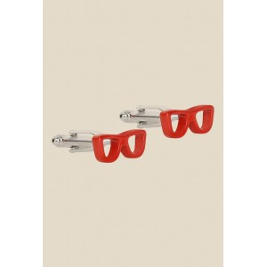The Bro Code Red Solid Cufflinks
