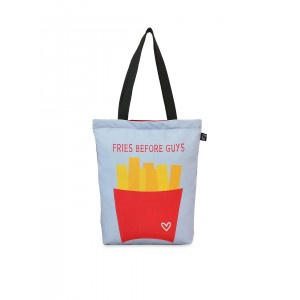 Lemon Trunk Blue & Red Canvas Printed Tote Bag