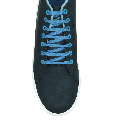 Buy GET GLAMR blue leatherette lace up