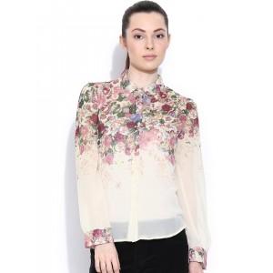 5c524807d7afff Buy Stalkbuylove White Cathy Ruffles Shirt online | Looksgud.in