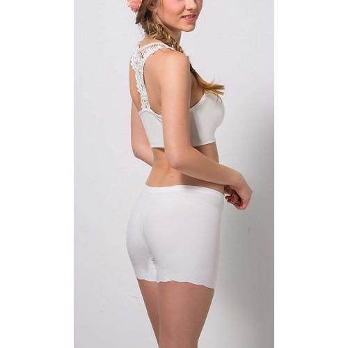 ba6ed6b1e8cf3 Buy Dealsnbuy White Solid Low Back Bralette Bra online