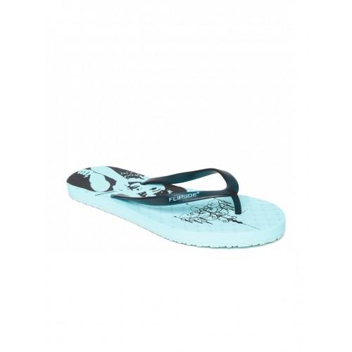 Flipside Women Blue Printed Flip-Flops