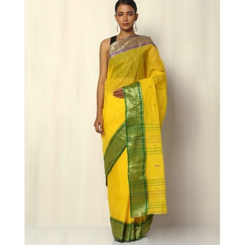 Indie Picks Bengal Handloom Tant Tangail Buti Cotton Saree