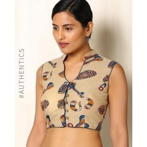 Indie Picks Kalamkari Print Cotton Blouse