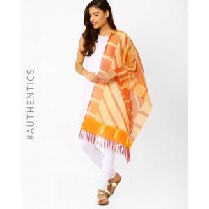 Indie Picks Handwoven Pochampally Ikat Pure Silk Stole
