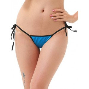 Madaam Women's Blue Solid Bikini Panty