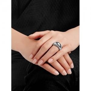 SWAROVSKI Silver Pebble Finger Ring
