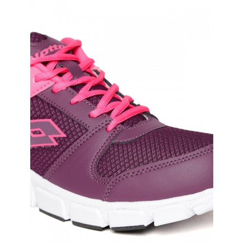 Lotto Sancia Magenta Purple Mesh Running Shoes