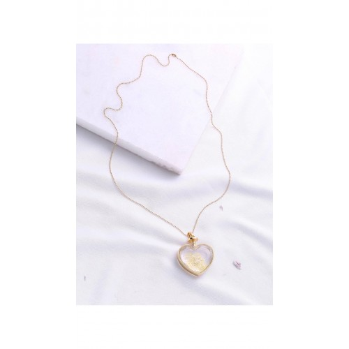 1c883dc288 Buy SheIn Heart Pendant Gold Chain Necklace online   Looksgud.in