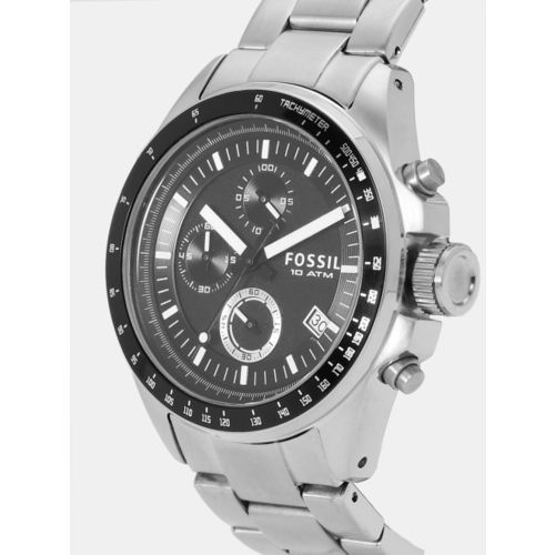 Fossil CH2600 Chronograph Analog Black Dial Men's Watch