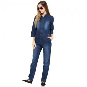 TheGudLook Blue Denim Jumpsuit