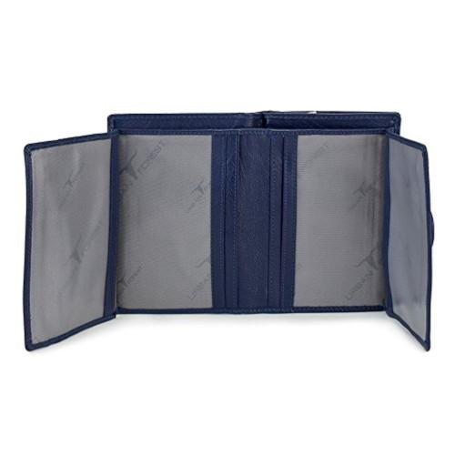 Urban Forest Blue Polyurethane Leather Wallet