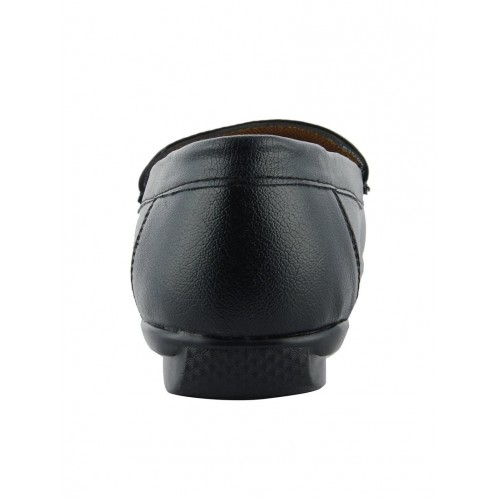 LeatherKraft Black Synthetic Mocassins For Men
