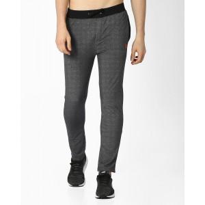 Teamspirit Gray Solid Mid-Rise Track Pants