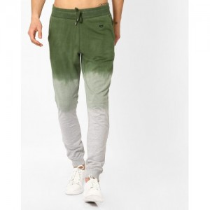 Garcon Olive & Gray Ombre-Dyed Track Pant