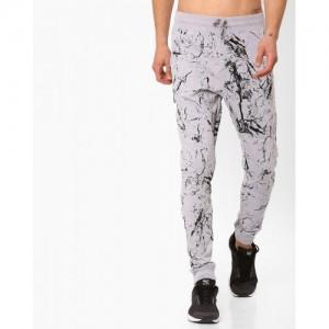 Garcon Splatter Gray Printed Track Pant
