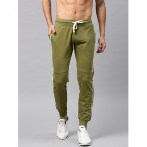 HRX Active by Hrithik Roshan Olive Solid Track Pant