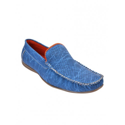 25e8b0290f8e6 Buy Andrew Scott blue leatherette slip on loafer online | Looksgud.in