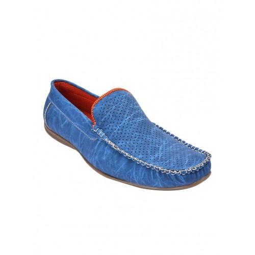 f2c64d16465 Buy Andrew Scott blue leatherette slip on loafer online