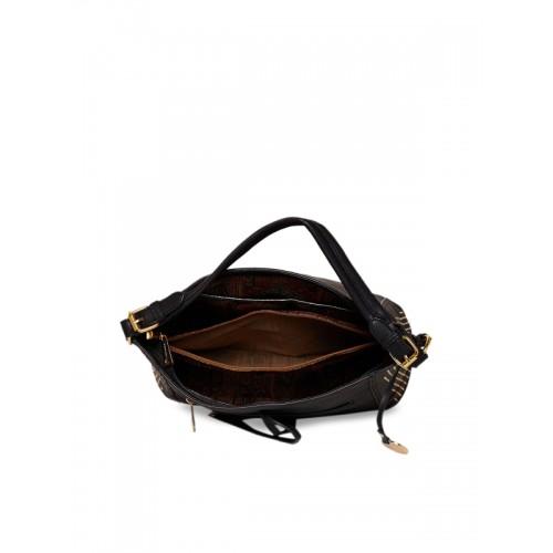 Diana Korr Black Polyurethane (Pu) Shoulder Bag