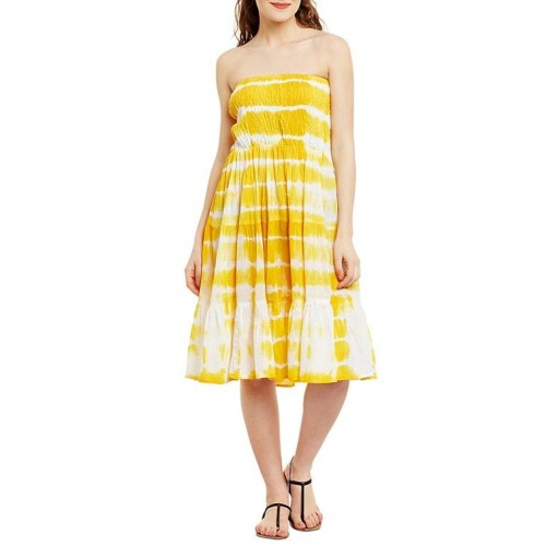 550db491e19 Ruhaan s yellow cotton tube dress  Ruhaan s yellow cotton tube dress ...