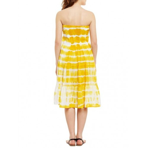 433dd8aa893 Buy Ruhaan s yellow cotton tube dress online