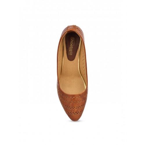 Shoetopia Women Brown Heels