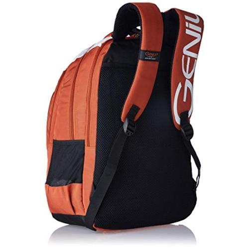 Genius Orange & White Printed Backpack