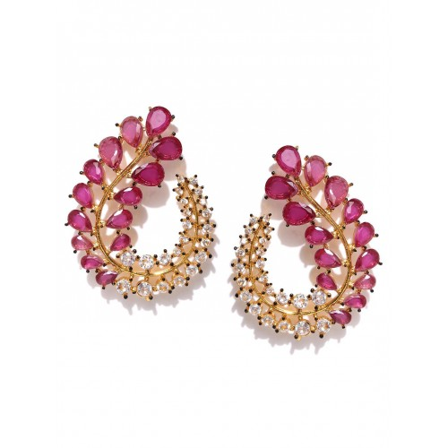 stone stud women earrings finish studded for jewelry studs gold white