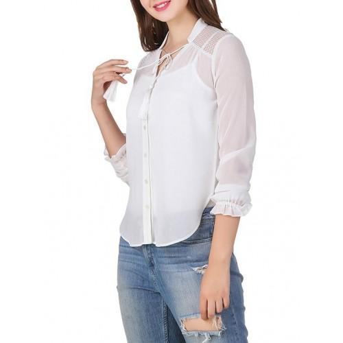 texco white polyester shirt