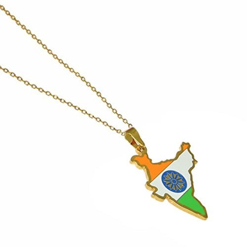 Map Pendent with Gold Plated Chain
