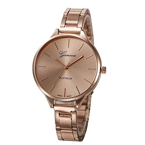 Geneva Rose Gold Analogue Women's Watch
