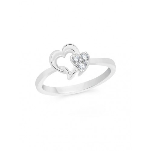 VK Jewels silver metal hand ring