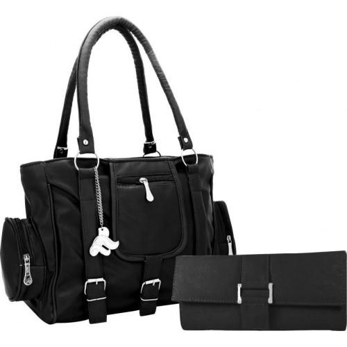 fde1ff5e295 Buy Lady Bar Black Solid Artificial Leather Shoulder Bag online ...